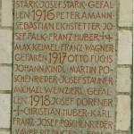 Namensnennung 1.Weltkrieg